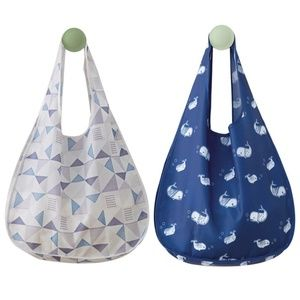 Handbags - 2-Pack Foldable, Reusable, XLarge Eco Totes